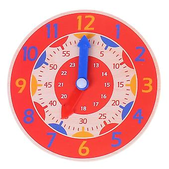 Children Montessori Wooden Clock Toys- Hour Minute Second Cognition Colorful Clocks for Kids Early Preschool Teaching Aids
