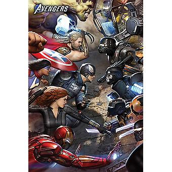 Avengers Juliste Face Off