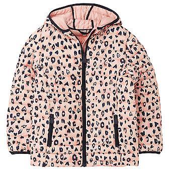 Joules Girls Kinnaird Print Padded Packaway Jacket Coat
