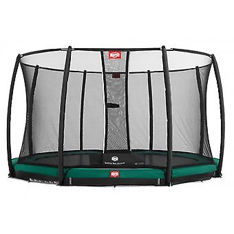 BERG InGround Champion 330 11ft Trampoline+ Safety Net Deluxe Green