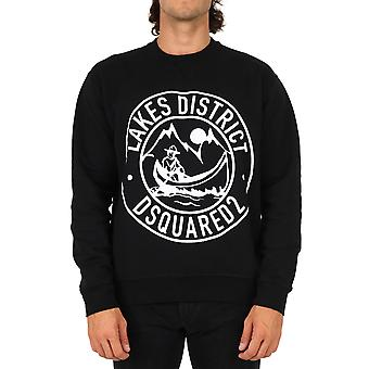 Dsquared2 S71gu0417s25030900 Män's Svart Bomull Sweatshirt