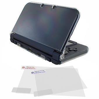 New 3ds xl crystal case & screen protector pack
