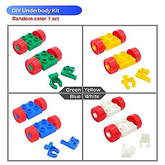 Diy Big Size Building Blocks Accessories Car Truck Plane Motorcycle Vehicle Bricks Compatible Duplos Parts Kids Toys Gift