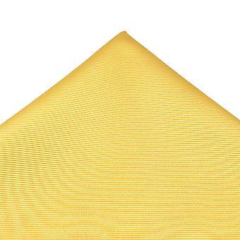 Ties Planet Plain Lemon Yellow Silk Pocket Square Handkerchief