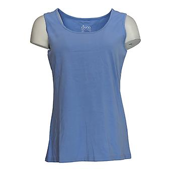 Denim & Co. Kobiety&s Top Tank Periwinkle Blue A351579