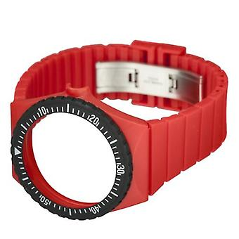 Fortis Colors C 03 24 -mm Red Silicone Watch Strap