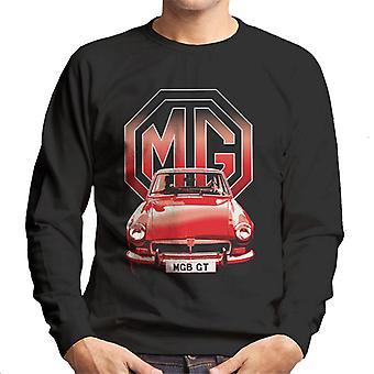 MG B GT Red British Motor Heritage Men's Sweatshirt