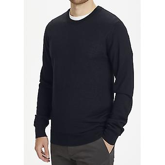 Leon Dark Navy Merino Jumper