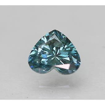 Cert 0.34 Ct Vivid Blue SI1 Herz verbessert natürliche lose Diamant 4.87x4.17mm 2VG