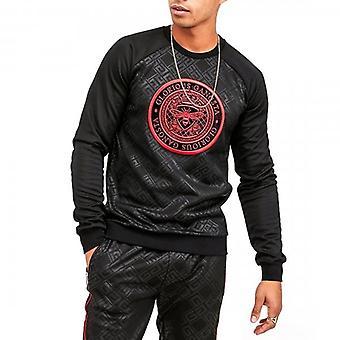 Glorious Gangsta Cabello Black Crew Neck Logo Sweatshirt