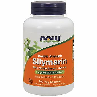 """עכשיו מינוס סילימארין כוח כפול, 300 מ""""ג, 200 כמוסות צמחיות"""