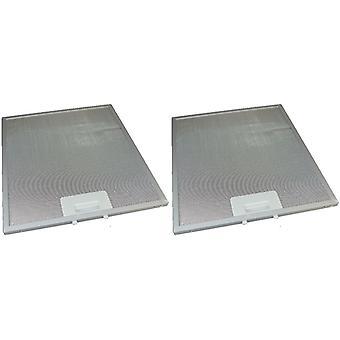 2 x Universal Cooker Hood Metal Grease Filter 280mm x 320mm