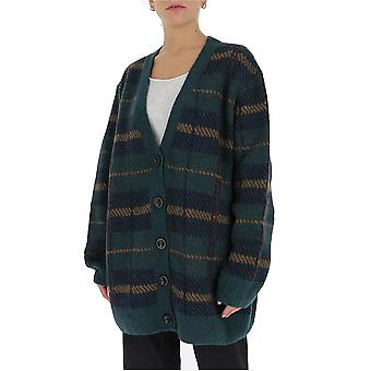 Dries Van Noten 112611710605 Women's Green Wool Cardigan
