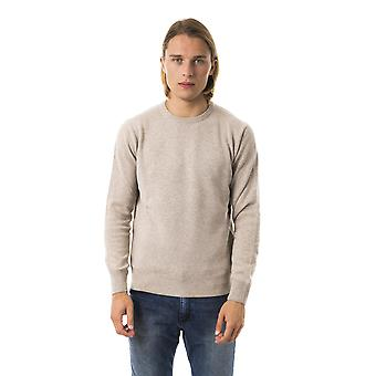 Uominitaliani Beige Crew Neck Sweater