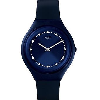 Swatch Svun100 Skinsparks Navy Silicone Skin Watch