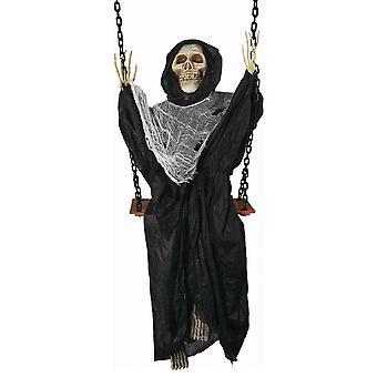 Forum-uutuudet Halloween Naamiaispukutarvikkeet - Heiluva kuollut ripustuskoriste - Viikatemies (60 tuumaa)