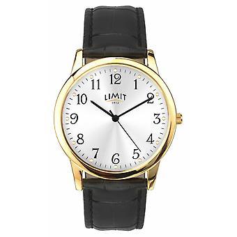 Limit Gold Case 38mm Black Croc Effect Strap 5953.01 Horloge
