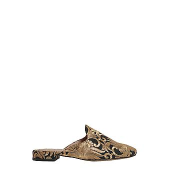 Tory Burch 39626010 Women's Gold Fabric Slippers