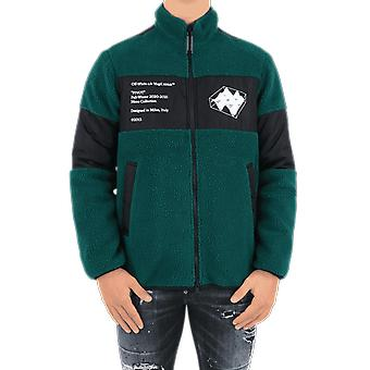 OFF WHITE Polar Fleece Jacket Green OMKI015E20FAB0015701Outerwear