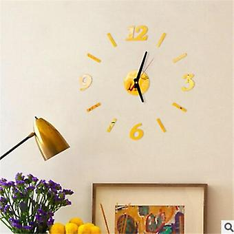 Modern Large Wall Clock 3d Mirror Sticker Unique Big Number