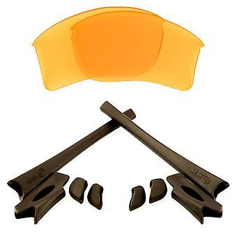 Replacement Lenses & Kit for Oakley Flak Jacket XLJ Yellow & Brown Anti-Scratch Anti-Glare UV400 by SeekOptics