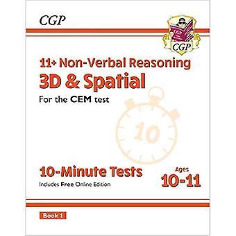 Nye 11 + CEM 10-minutters test: Ikke-verbal ræsonnement 3D & Rumlige - Alder 10-11 Bog 1 (med Online Ed)