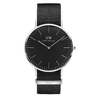 Daniel Wellington DW00100149 Classic Cornwall Petite Black Nato Strap Wristwatch