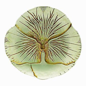Schöne Luminescent Glas Stiefmütterchen Platte