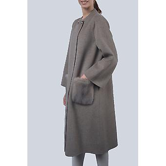 Sam-rone Women's Grey Coat