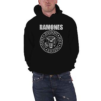 Ramones Hoodie Presidential Seal band logo new Official Mens Black Pullover