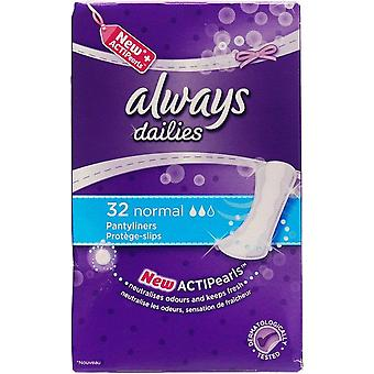 Altijd Dailies Actipearls Normale Pantyliners 32's x5