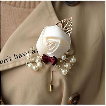 Bouquet di nozze Rosa, Damigella d'onore Matrimonio Schiuma Fiori Nastro