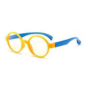 Lunettes optiques pour enfants Flexible Safe Plain Mirror Silicone Anti-blue Light