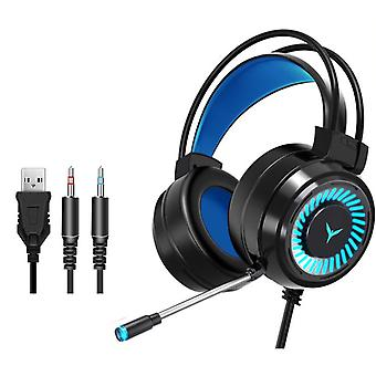 Gamer Headphones Surround Sound Stereo Wired Earphones/usb Microphone Colourful