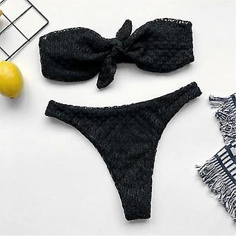 Bow Strapless Bikini Women Swimwear
