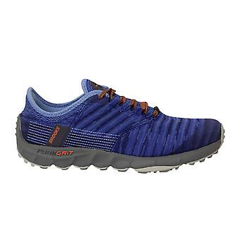 Brooks PureGrit 8 Lace Up Blue Woven Womens Löparskor Tränare 1203011B468