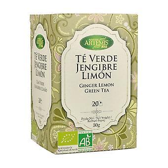 Inkivääri Lemon Green Tea Bio 20 paketit