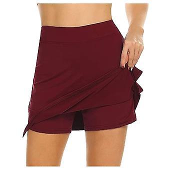 المرأة Skort سريعة الجافة رياضة تنس الريشة بانتنور ارتداء تنورة السراويل خفيفة الوزن