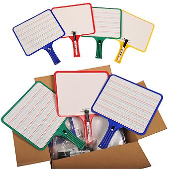 Rectangular Dry Erase Whiteboards With Markers, Blank/Handwriting Double-Sided, Assorted, 12 Per Pack