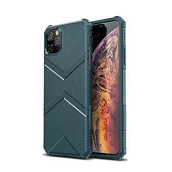 Iskunkestävä pehmeä TPU-kotelo Apple iPhone X / XS: lle - tummanvihreä