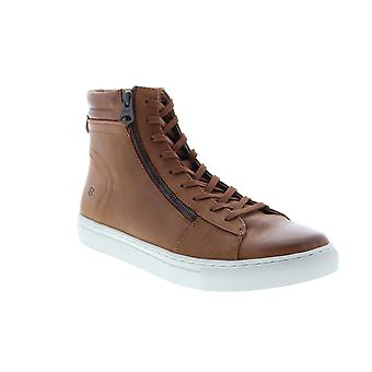 Andrew Marc Remsen  Mens Brown Leather Lifestyle Sneakers Shoes