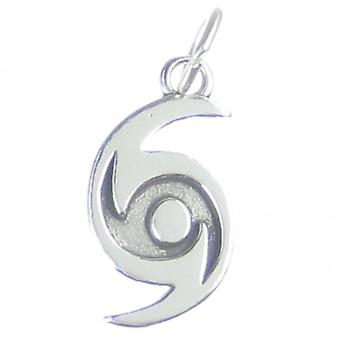 Hurricane Sterling Silver Charm .925 X 1 Hurricanes Weather Storms Charms - 4132