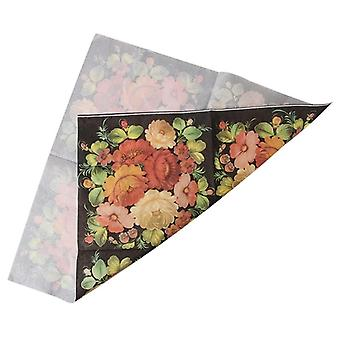 New High-grade Vintage Black Flower Tissue Paper