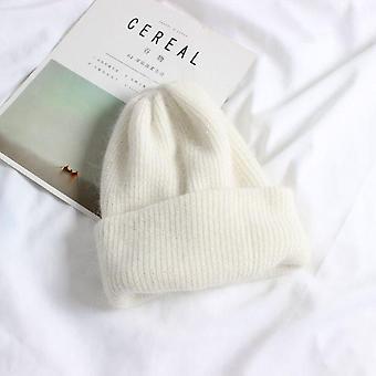 Téli meleg nyúl szőrme beanie szilárd motorháztető női skullies bab puha kalapok