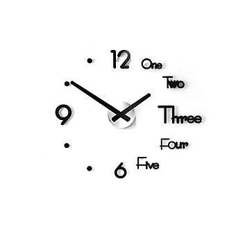 Diy Wall Clock Stickers, 3d Modern Watch