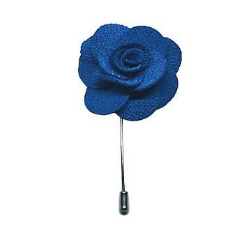 Handgemachte Blume/Rose Anstecknadel | Royal Blue