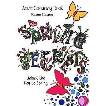 Libro para colorear para adultos - Secretos de primavera (libro de bolsillo)