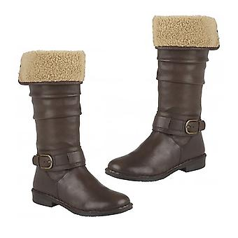 Lotus Brown Leather Dandy Knee High Boots Taille 4