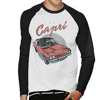 Ford Red Capri Hombres&s Baseball Camiseta de manga larga