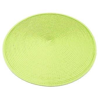 4kpl lämmönkestävä Pp-ruokapöytä matto kudottu placemat-tyyny
